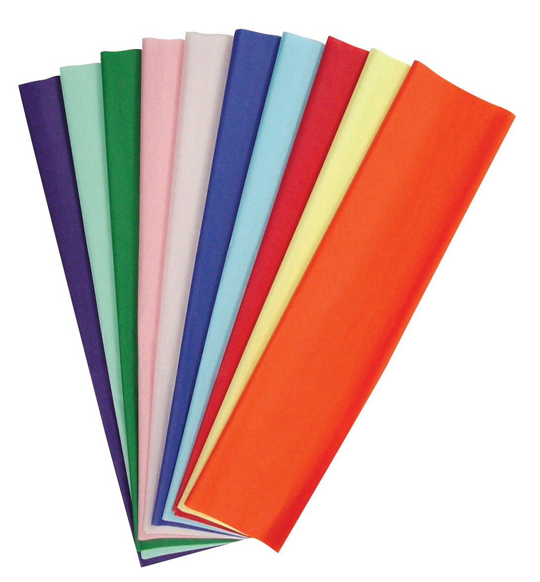 Kolorfast Non-Bleeding Craft Tissue Paper, 20 x 30 Inches, Assorted Colors, Pack of 50