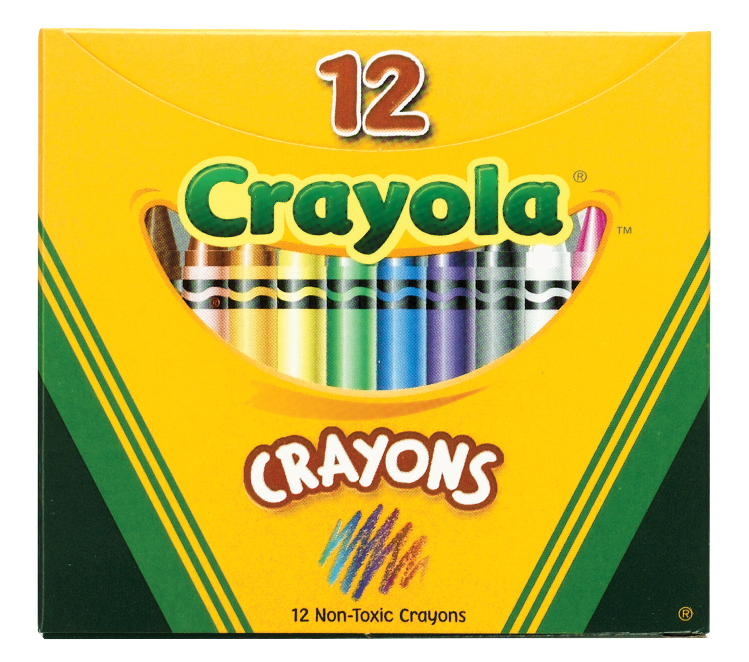 crayola standard size crayons in tuck box pack of 12
