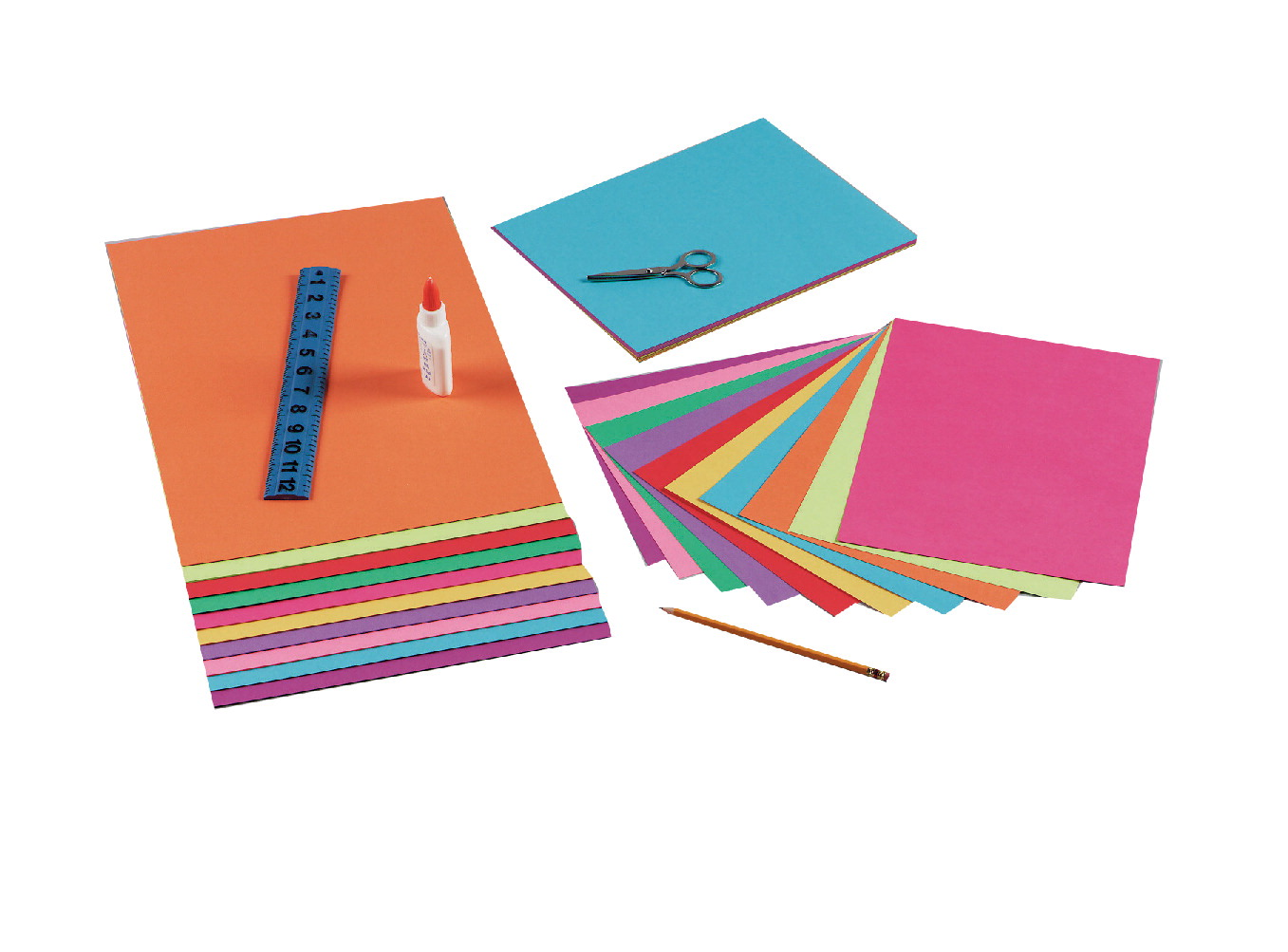 Tru-Ray Sulphite Construction Paper, 9 x 12 Inches, Assorted Bright Color, 50 Sheets