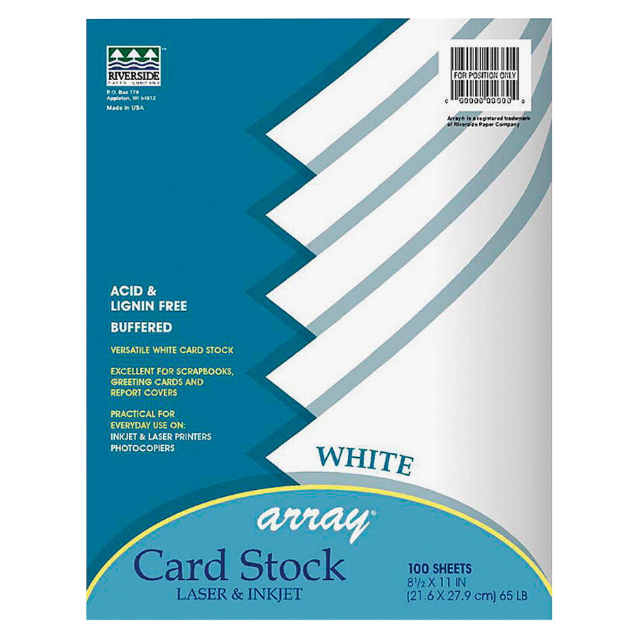 Pacon Heavy Weight Card Stock, 8-1/2 x 11 Inches, White, Pack of 100