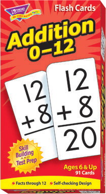 Trend Math Flash Cards, Addition, Ages 6 to 7