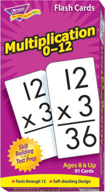 Trend Multiplication Math Flash Cards, Set of 91