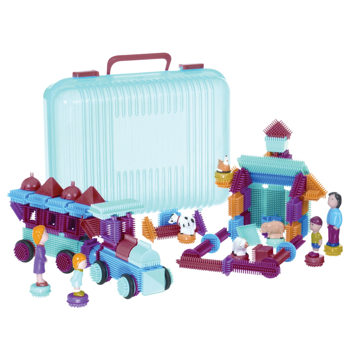Toysmith Krinkle Interlocking Bristle Block Set