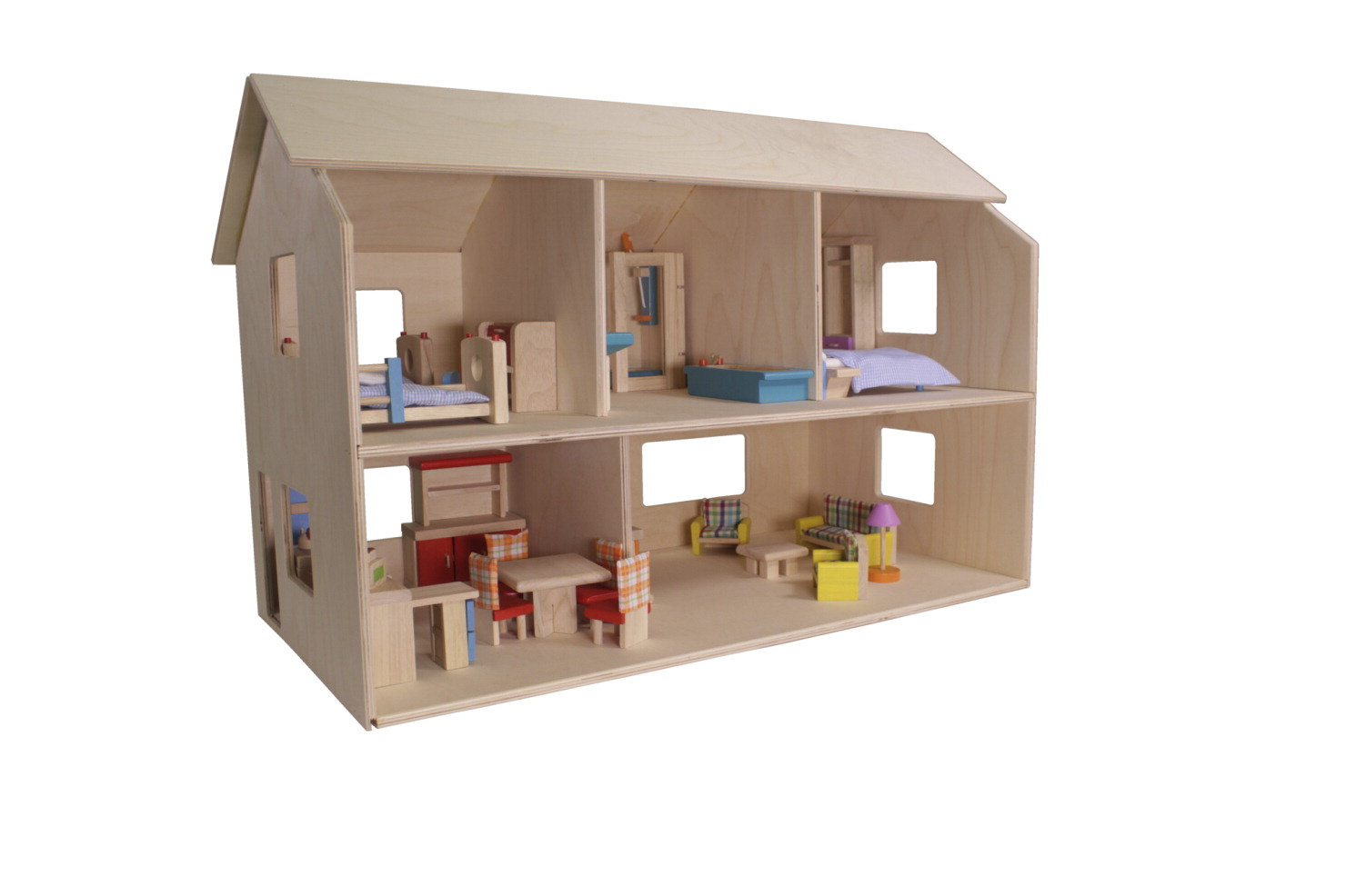 Childcraft Classic Wooden Dolls House Unfinished School
