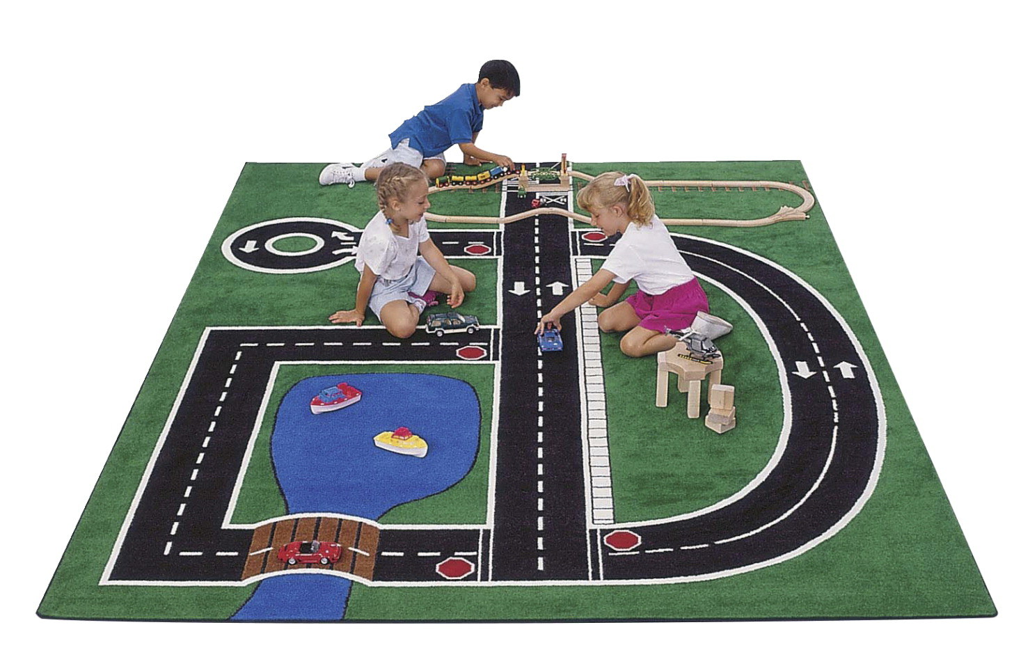 Carpets For Kids Neighborhood Capet, 5 Feet 10 Inches x 8 Feet 4 Inches, Rectangle
