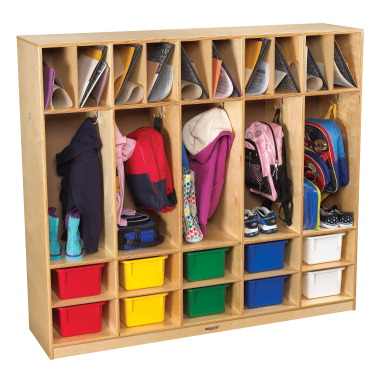 Childcraft Coat Locker With 10 Cubbies 5 Sections