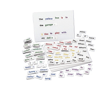 Childcraft Magnetic Color Coded Words and Boards Set