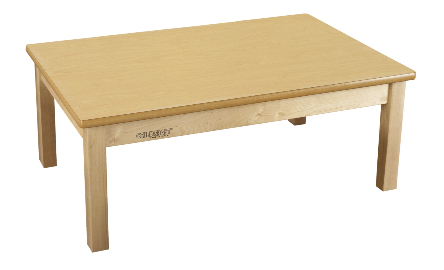 Childcraft Wood Table, Laminate Top, Rectangle, 36 x 48 x 24 Inches