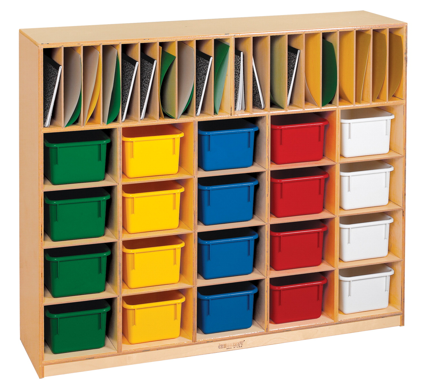 Childcraft Folder And Tray Cubby 20 Tray Capacity