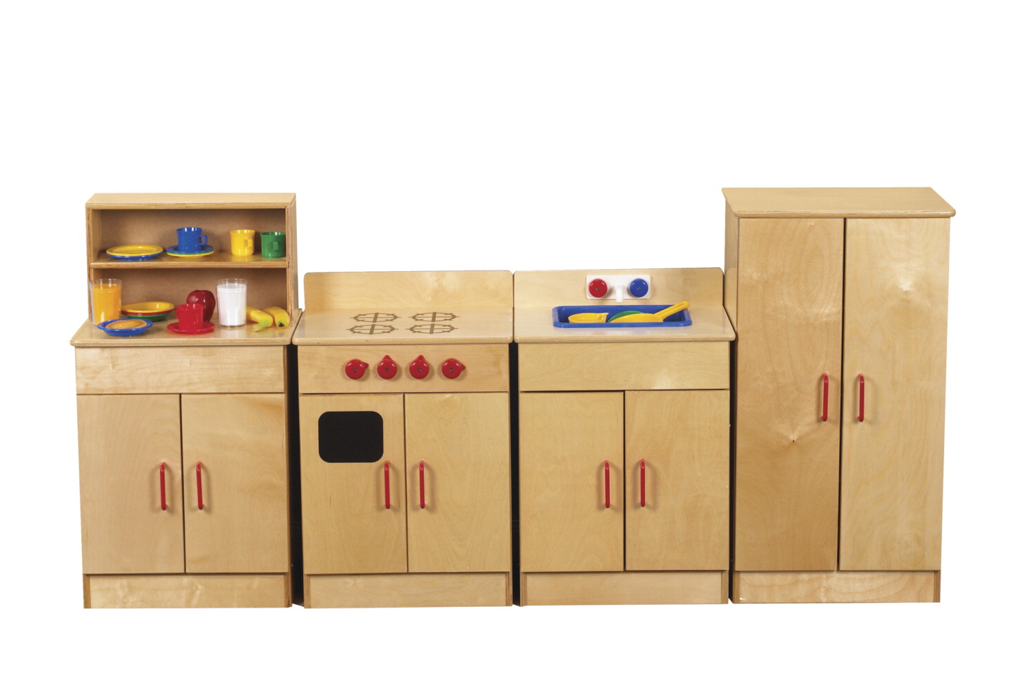 Childcraft traditional play refrigerator 19 w x 13 25 d x for Child craft play kitchen