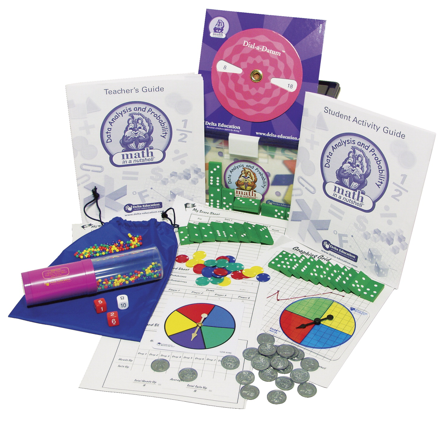 Delta Math in a Nutshell Data Analysis and Probability Single Kit, Grades 5-6