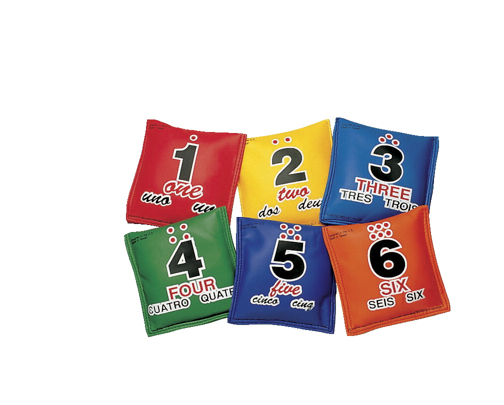 School Smart 5 x 5 in Utility Sequencing Educational Beanbags, Set of 6
