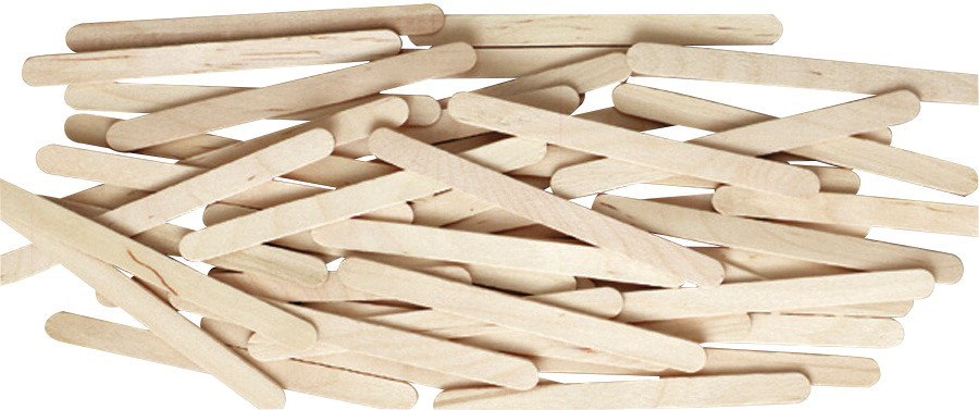 Creativity Street Wood Economy Non-Toxic Craft Stick, 4-1/2 X 3/8 X 1/2 in, Natural, Pack of 1000