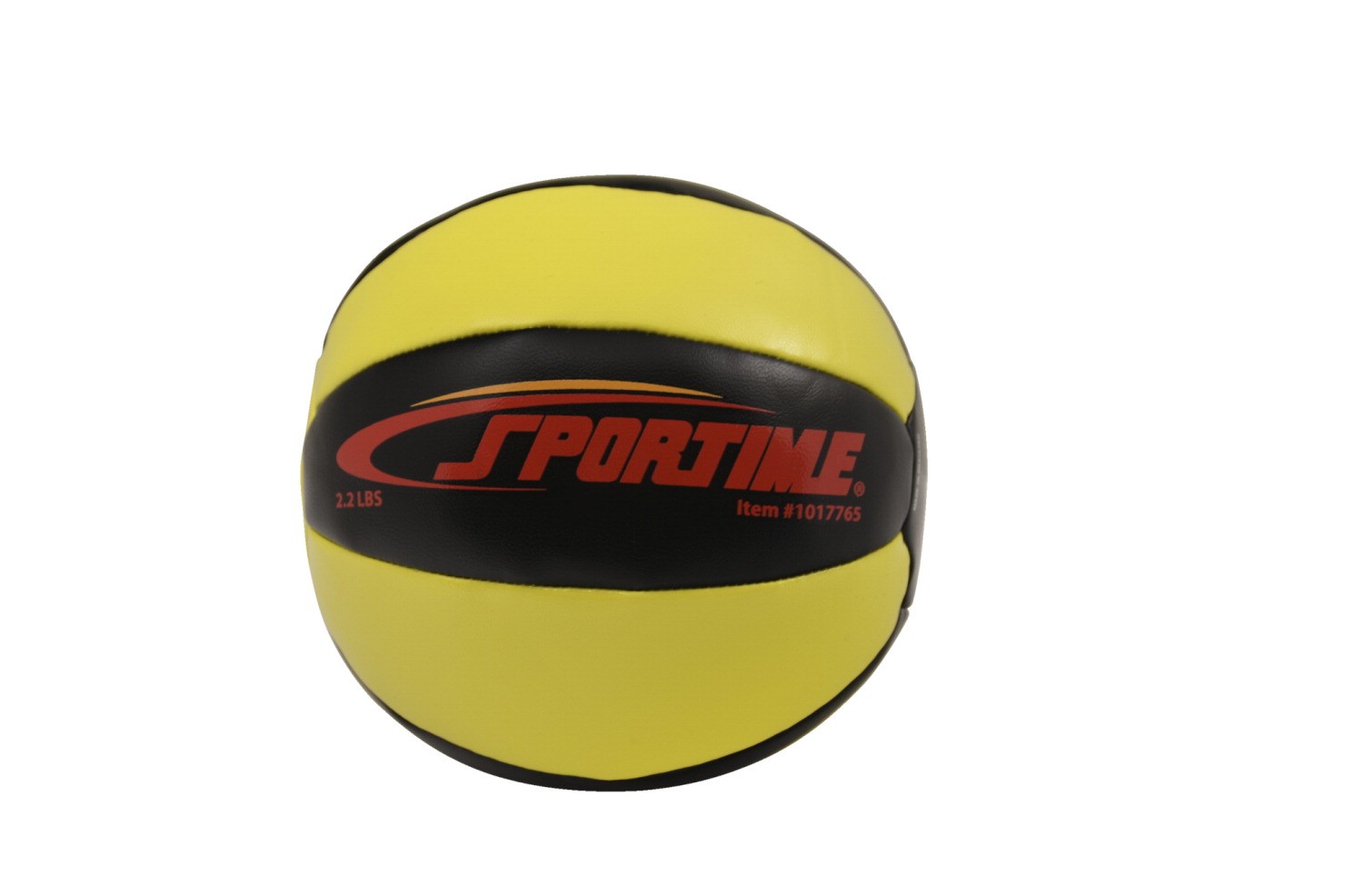Sportime Strength Medicine Ball, 2.2 Pounds, Yellow/Black