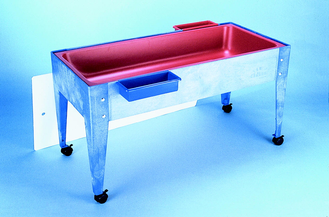 Childbrite Indoor Outdoor Super Sand And Water Activity Table With Lid And Solid Liner 46 X 21 X 24 Inches Blue Red