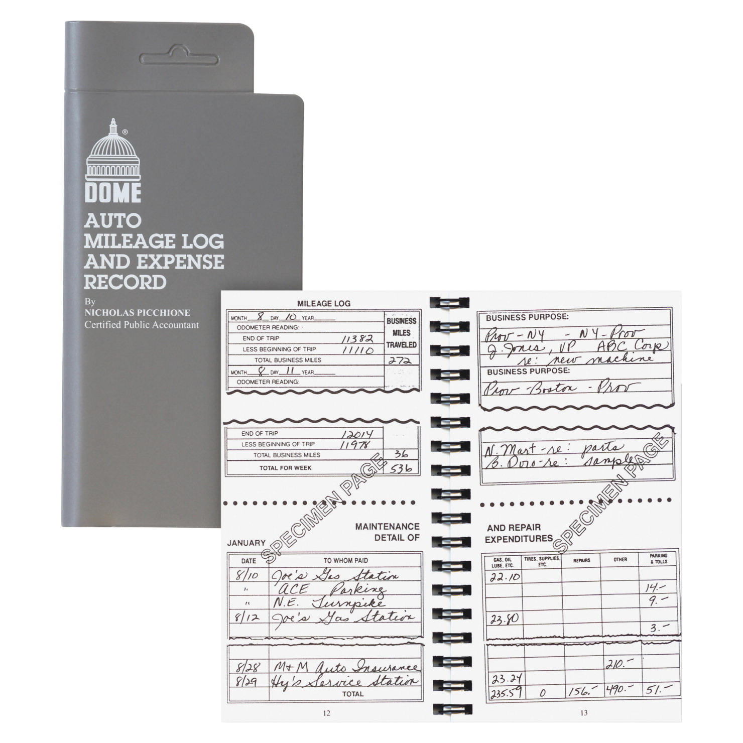 auto mileage log and expense record book school specialty marketplace