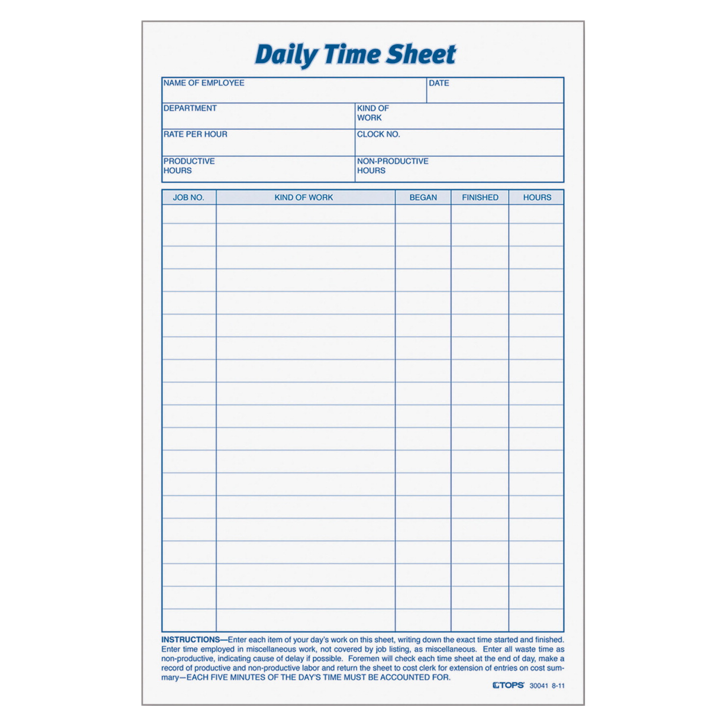daily time sheet form soar life products