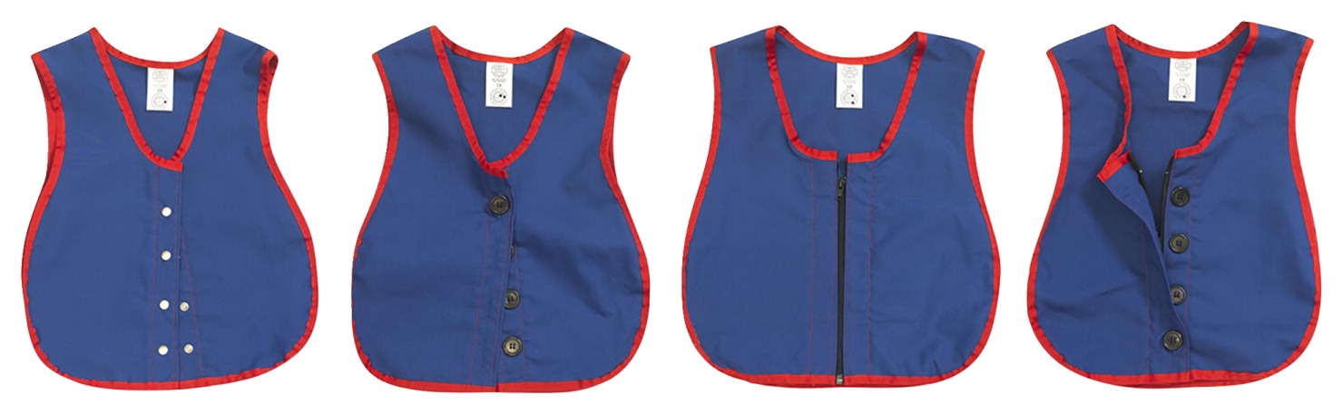 Children's Factory Manual Dexterity Learning Vests, Set of 4