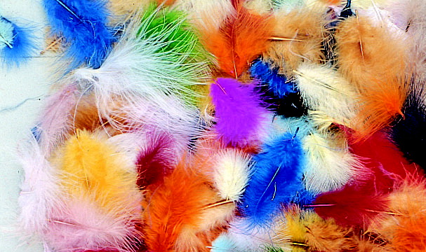 School Smart Marabou Feathers, 9-1/2 Ounces, Assorted Colors, Pack of 3000