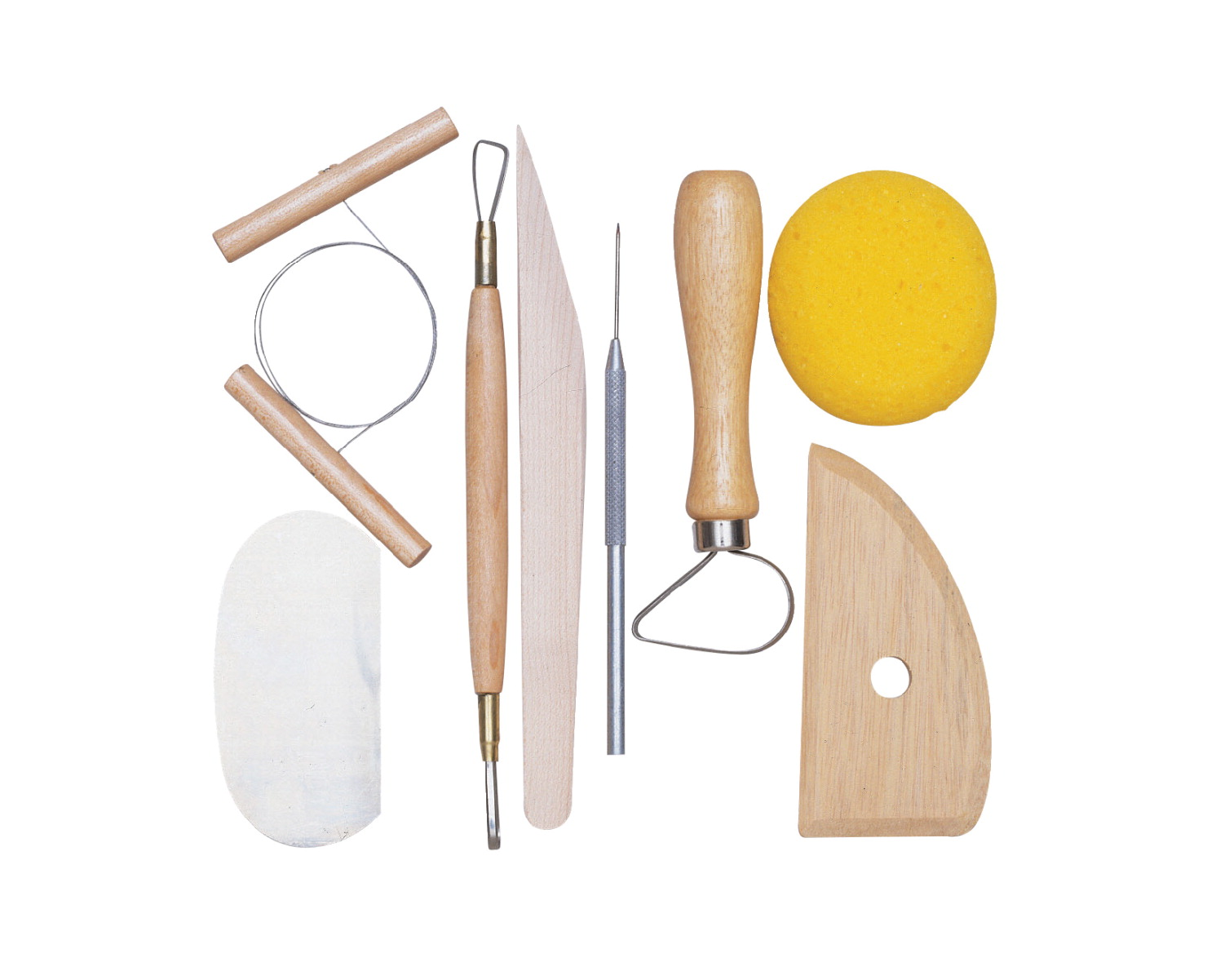 Jack Richeson Pottery Tool Set, Assorted Size, Set of 8