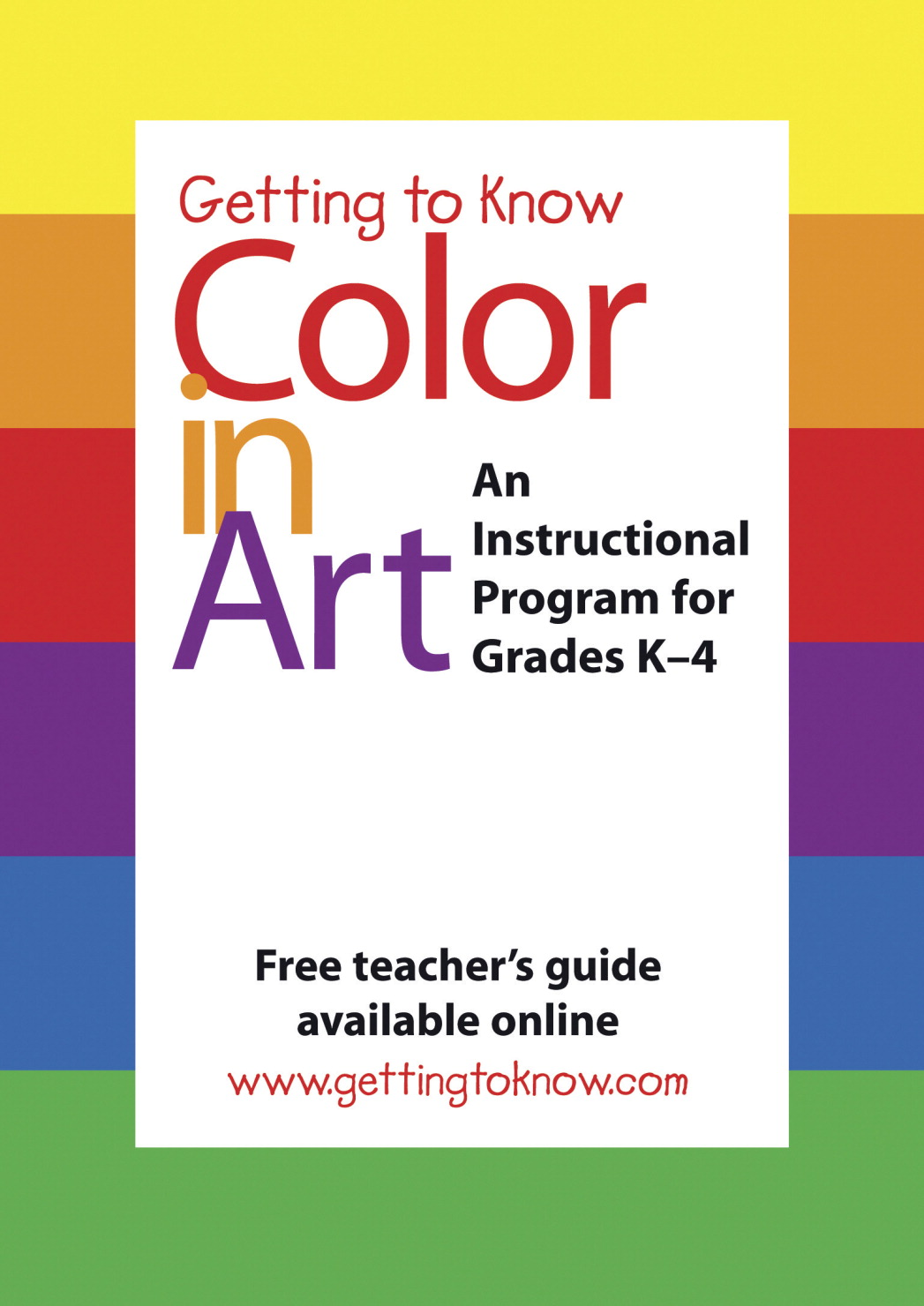 Getting to Know Color in Art DVD, 24 min, Grade K - 4