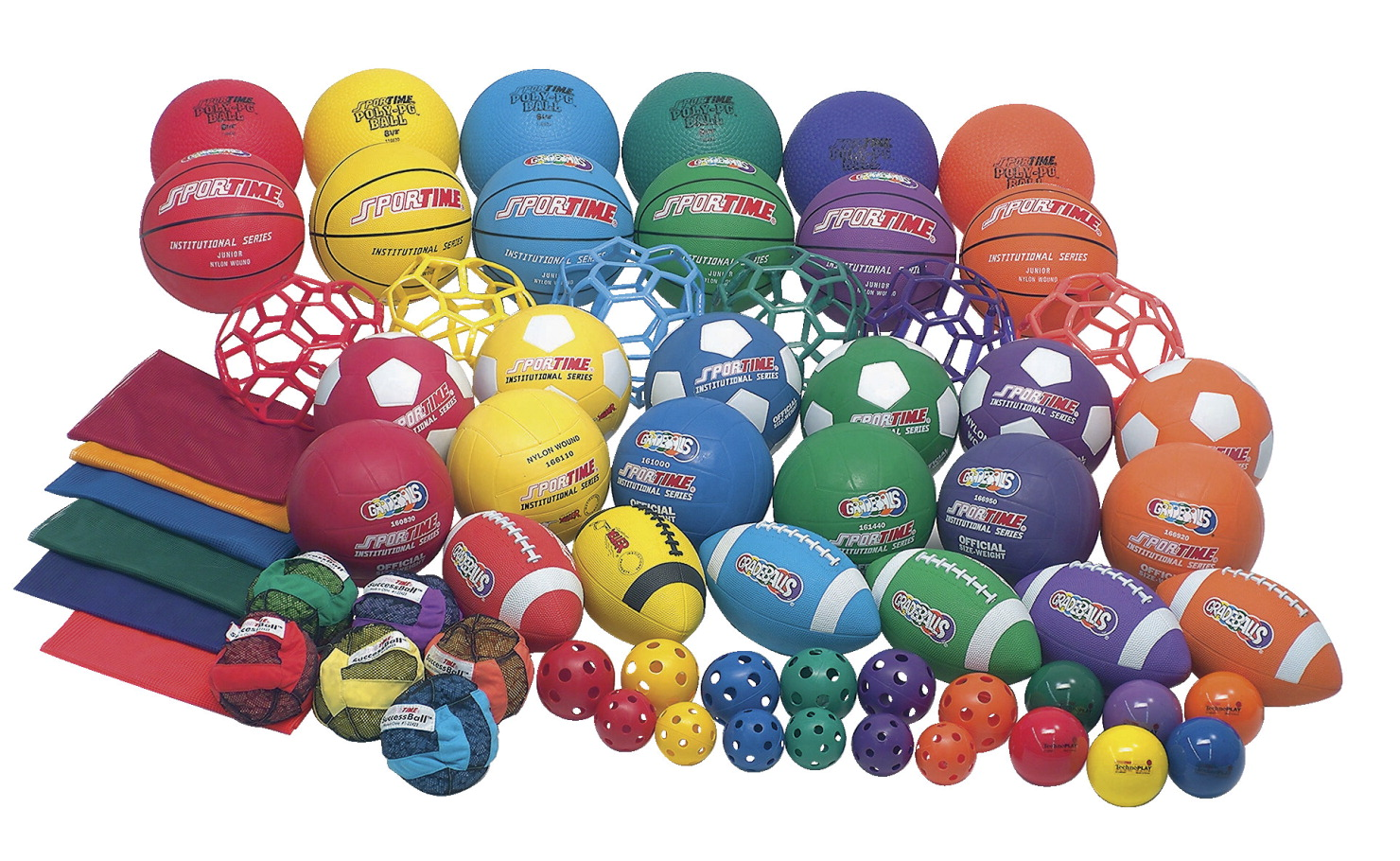 Sportime Classroom Ball Pack, Set of 66