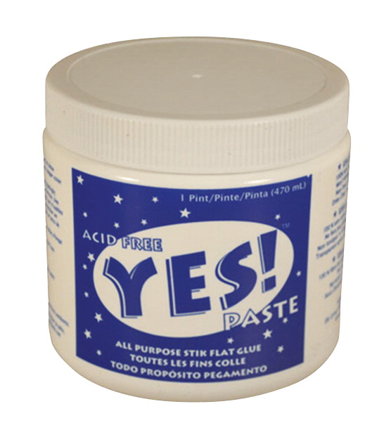 Yes! Paste Acid-Free Multi-Purpose Non-Toxic Water Based Glue, 19 oz Jar, Dries Clear