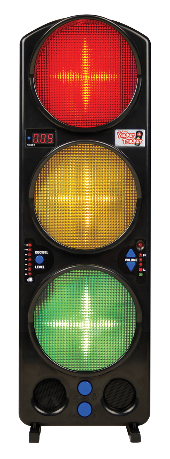 Yacker Tracker Noise Level Monitor, LED, 17 Inches Tall, Red/Yellow/Green