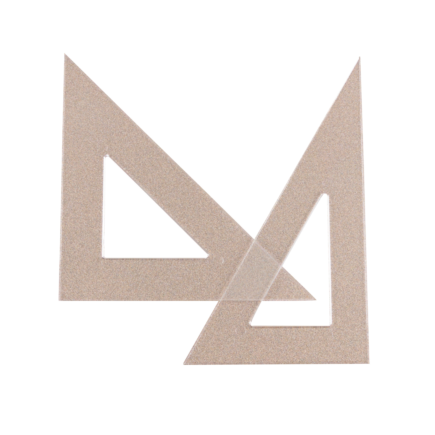 De S About Westcott Student Grade Polystyrene Triangle  Degrees 6 Inches Clear