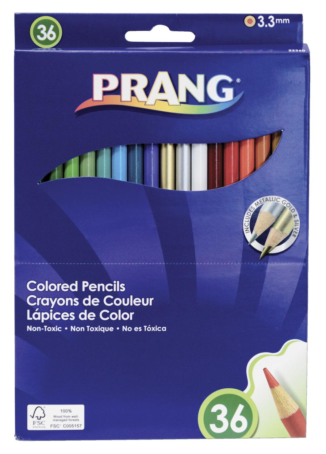 Prang Colored Pencils, Assorted Colors, Set of 36   eBay