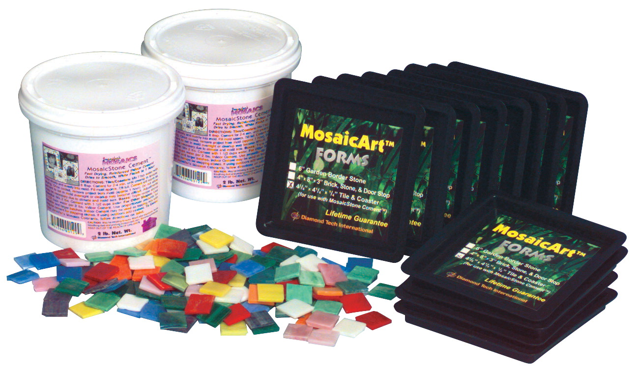 Sax Stained Gl Mosaic Tile Coaster Kit Makes 12