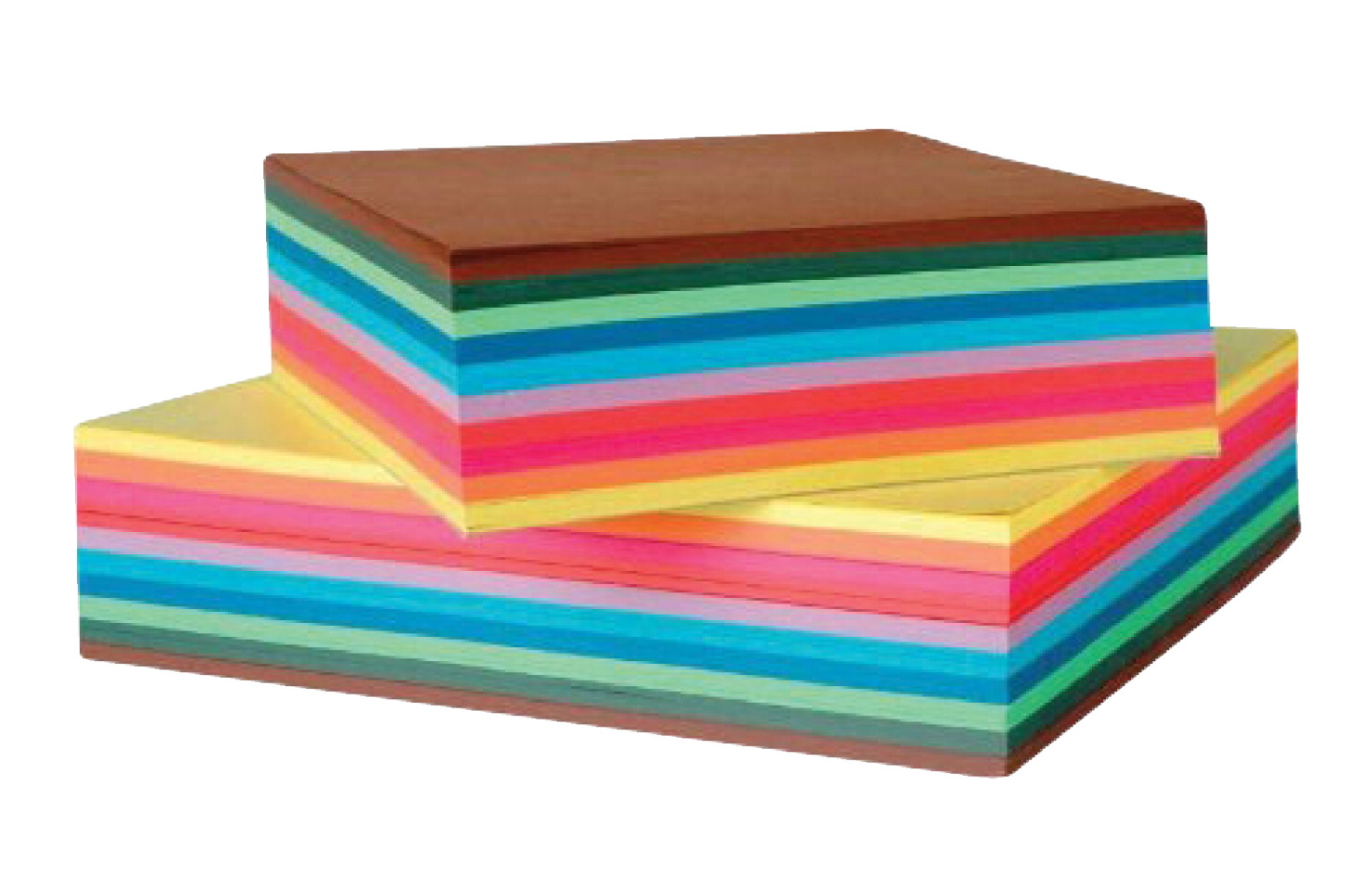 Folia Square Origami Paper School Pack, 8 Inches, Assorted Colors, Pack of 500
