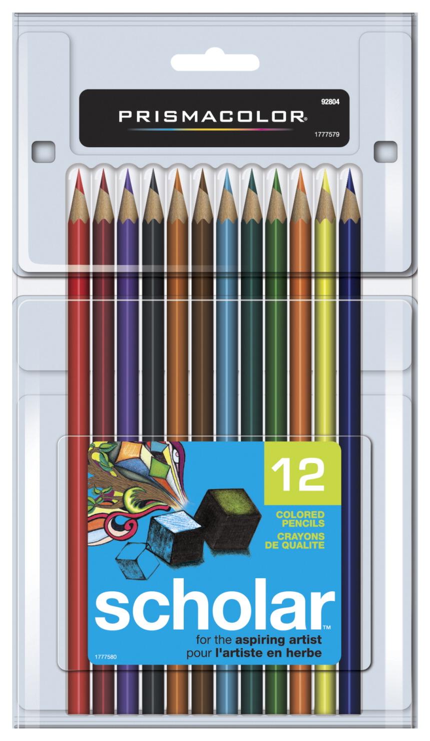 Prismacolor Scholar 12 Colored Pencils for Artists NEW