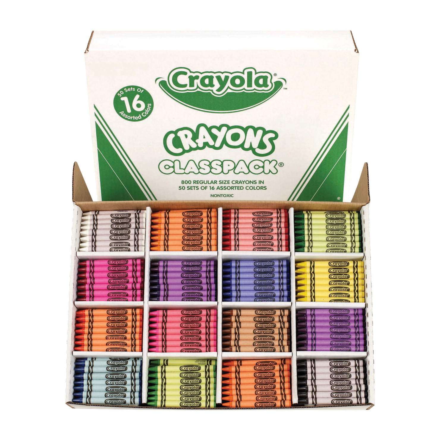 crayola crayon classroom pack 16 assorted colors set of 800