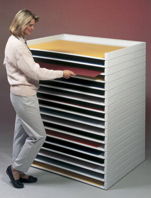 Safco Large Giant Stacking Tray White School Specialty