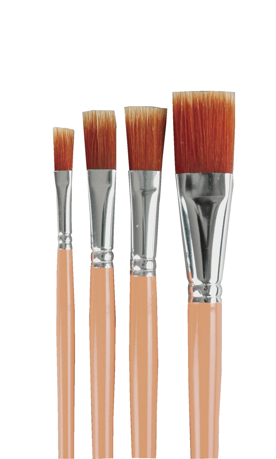 Sax Golden Acrylic Astro Flex Easel Brushes, Assorted Sizes, Set of 4