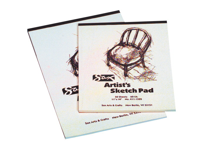 Sax Sulphite Artists Sketch Pad, 60 lbs, 9 x 12 Inches, White, 50 Sheets