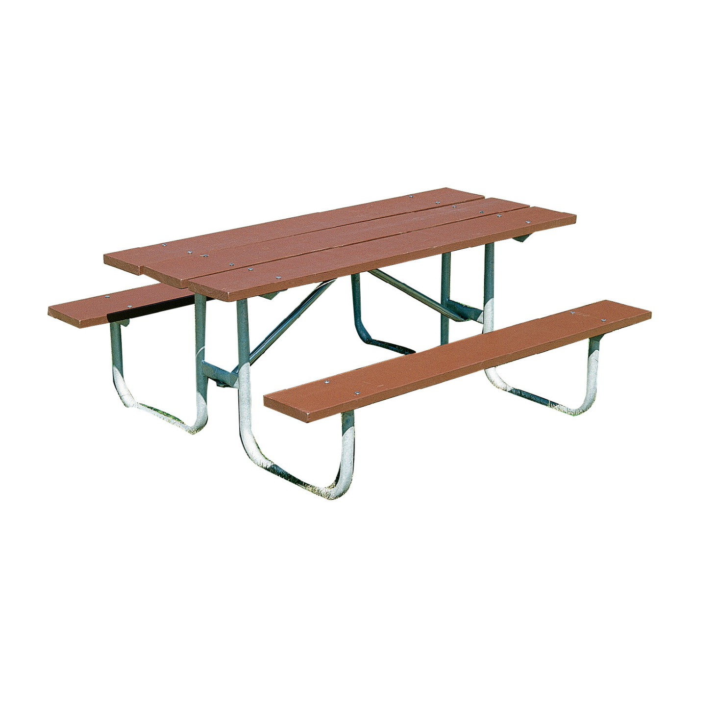 UltraSite Heavy Duty Recycled Plastic Top Picnic Table, 72 x 64-3/4 x 31-9/16 Inches, Various Options