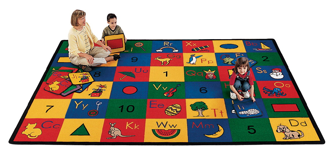 Carpets For Kids Blocks of Fun Rug, 4 Feet 5 Inches x 5 Feet 10 Inches, Rectangle