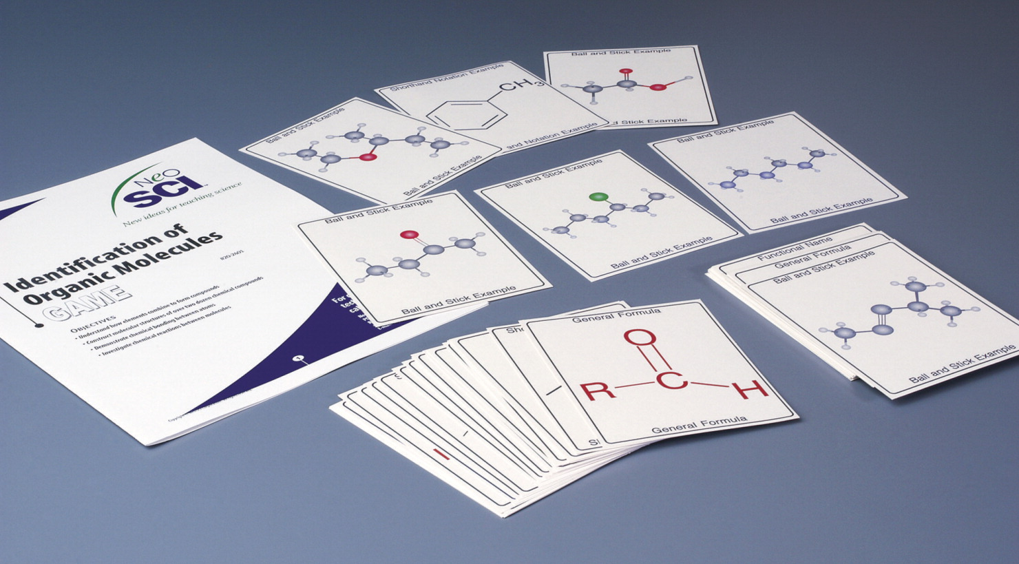 NeoSCI Identification of Organic Molecules Game - Classroom Set