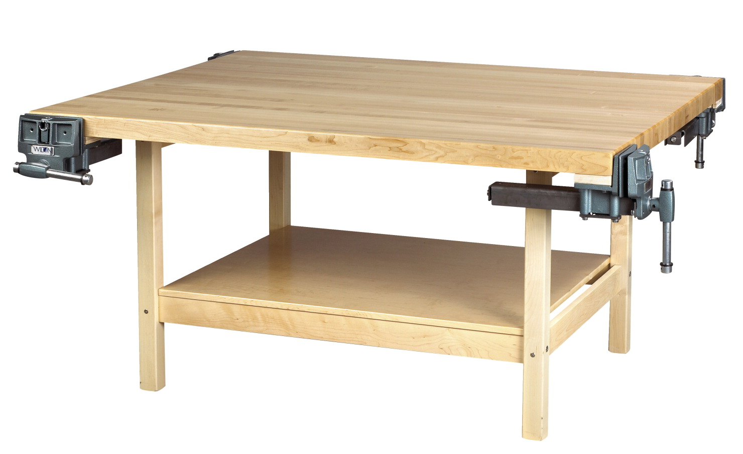 Diversified Woodcrafts 4 Vice Workbench, 64 x 54 x 31-1/4 Inches, Maple