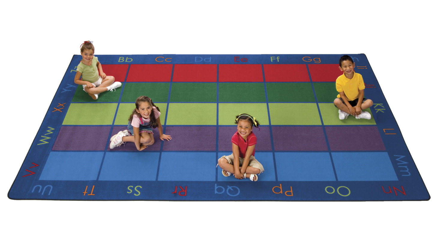 Carpets For Kids Colorful Places Seating Rug, Rectangle, 6 x 9 Feet