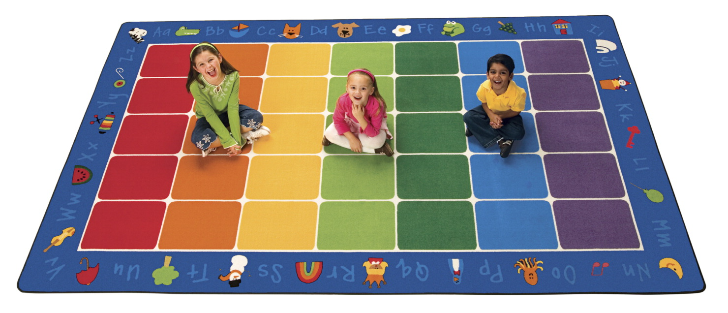 Carpets For Kids Fun with Phonics Seating Rug, 7 Feet 6 Inches x 12 Feet, Rectangle