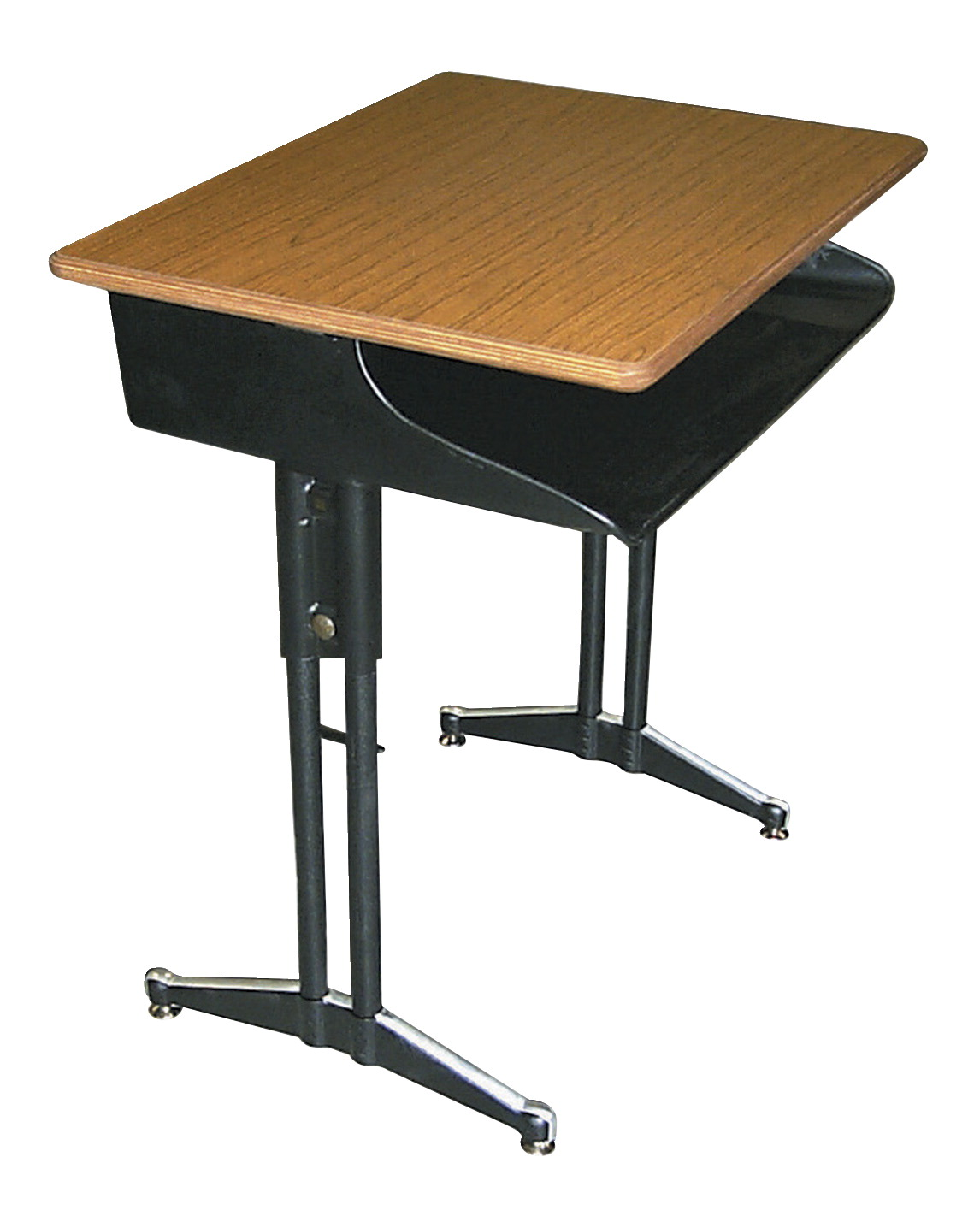 Classroom Select Classic 649 Open Front Desk, 18 x 24 Inch Plastic Top, Various Options