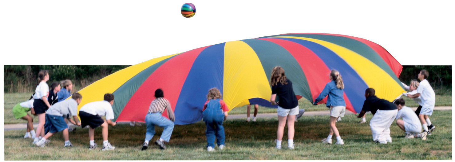 Sportime GripStarChute Parachute with 22 Handles, 24 Feet, Multiple Colors