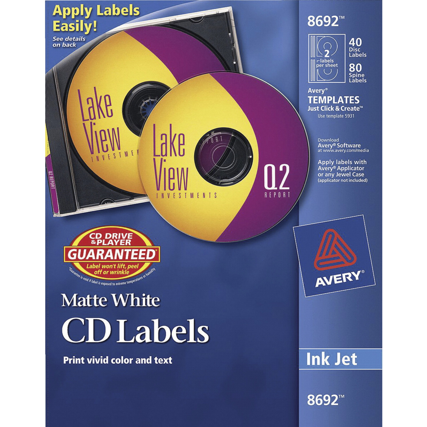 Cd dvd label school specialty marketplace for Avery disc labels