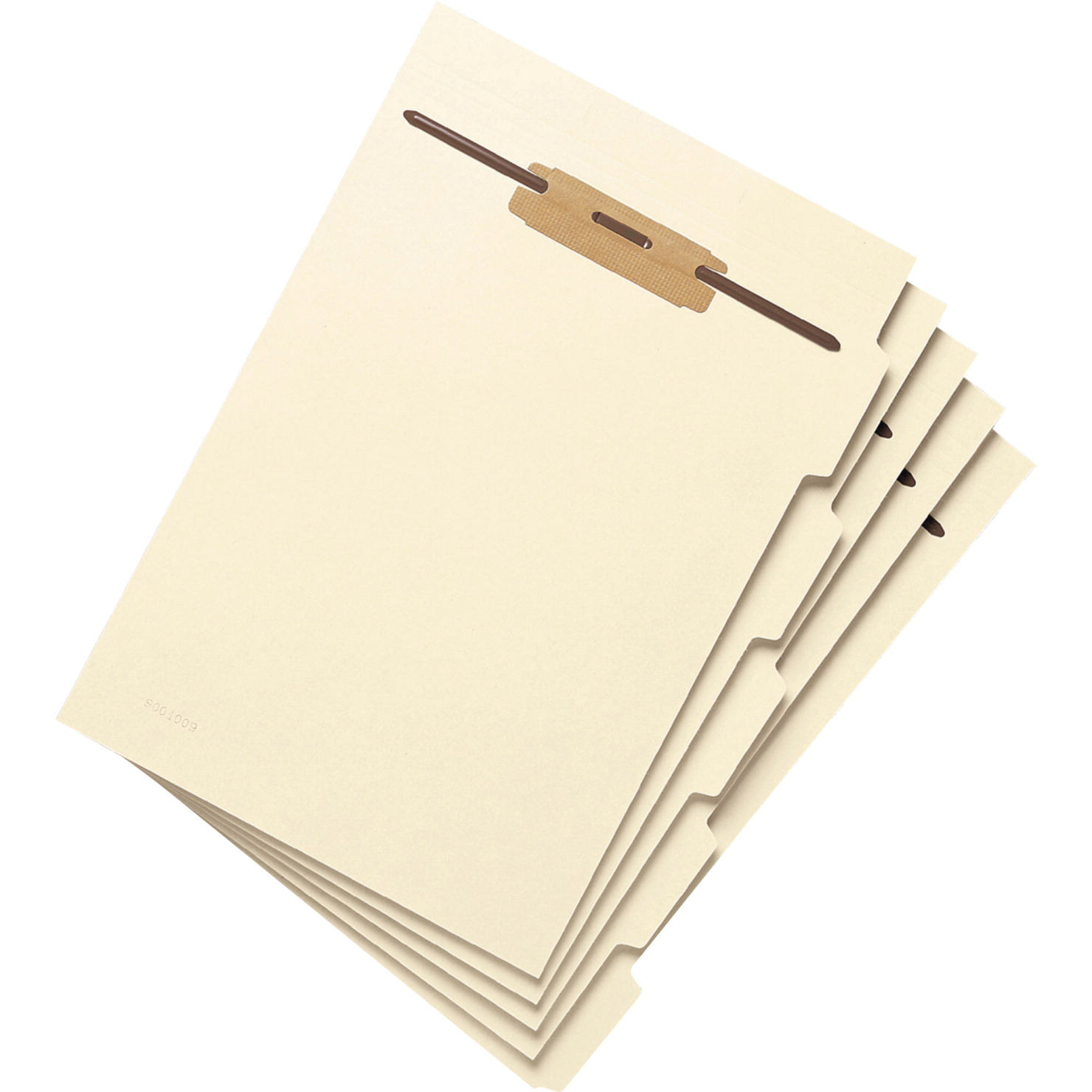 Smead 11-Pt Manila 1/5-Cut Hinged File Folder Divider with Fasteners, Letter, Pack of 50