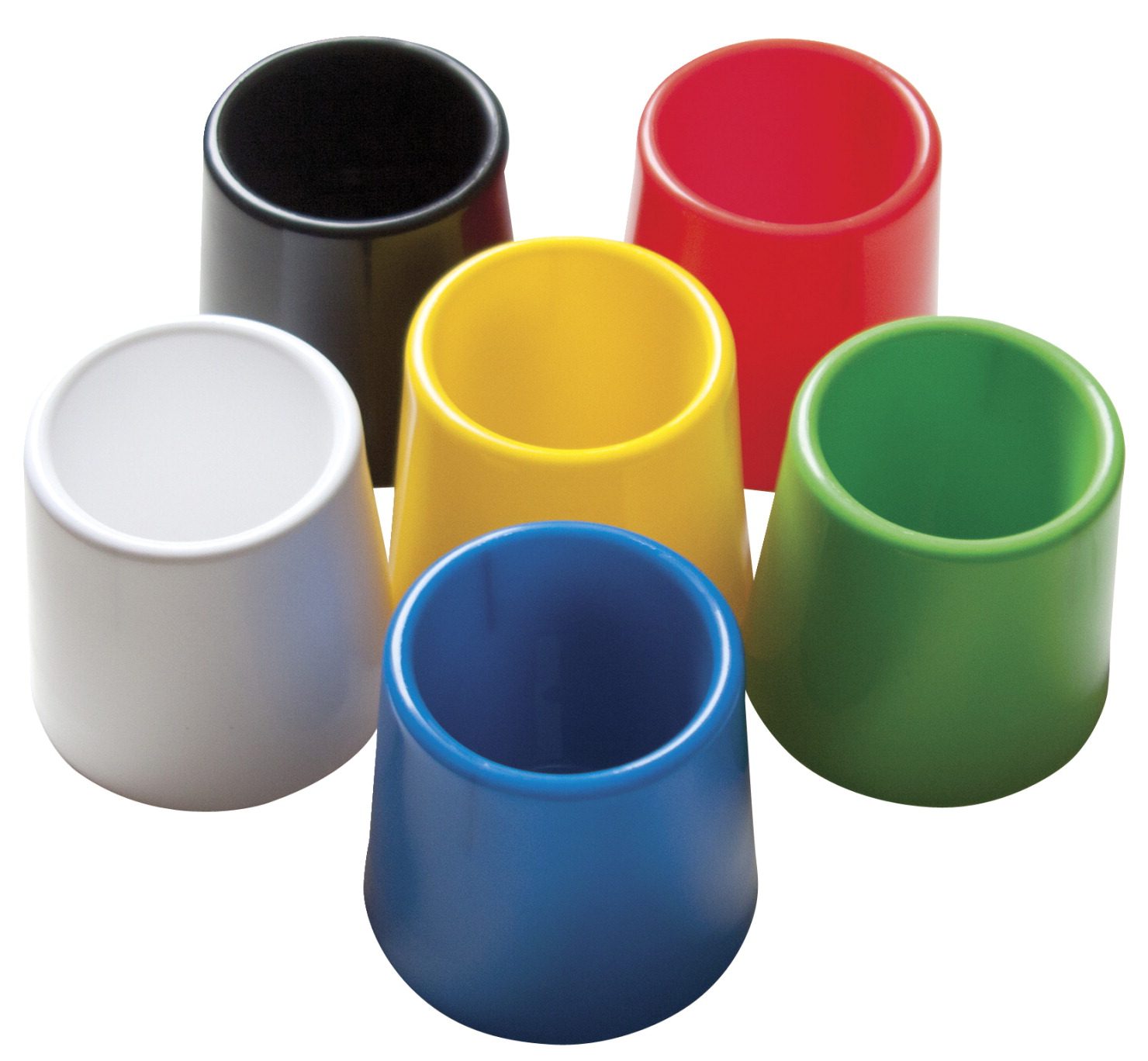 School Smart Plastic Water Pot Set Assorted Colors 1 4 3 X