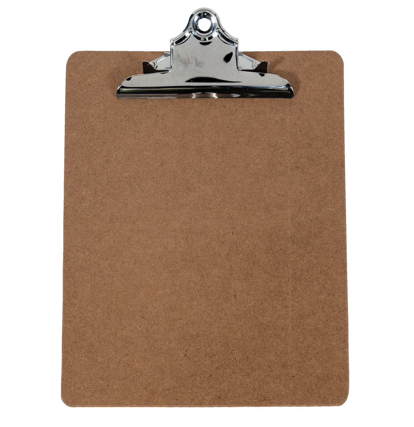 School Smart Letter Size Clipboard, 9 X 12-1/2 in, Hardboard, Bright Nickel