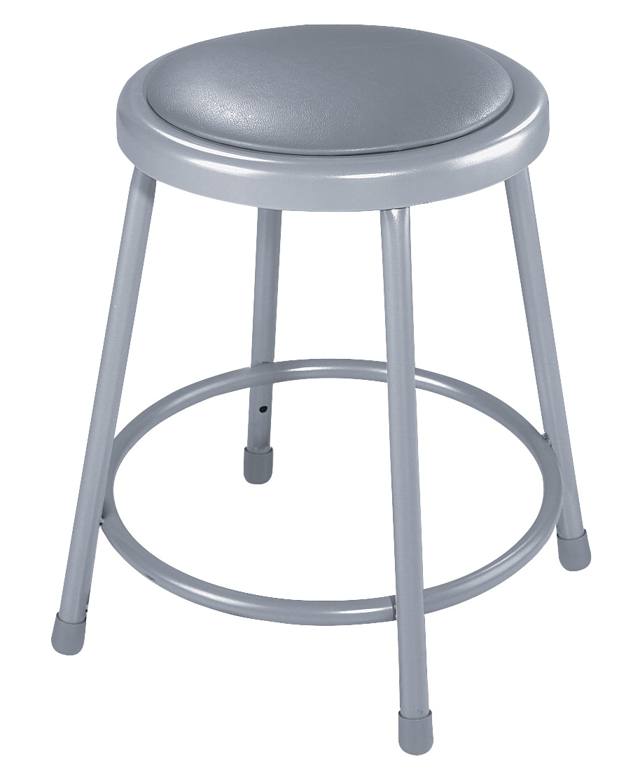 Awe Inspiring National Public Seating Height Adjustable Heavy Duty Vinyl Padded Steel Stool 19 27 Inches Gray Creativecarmelina Interior Chair Design Creativecarmelinacom
